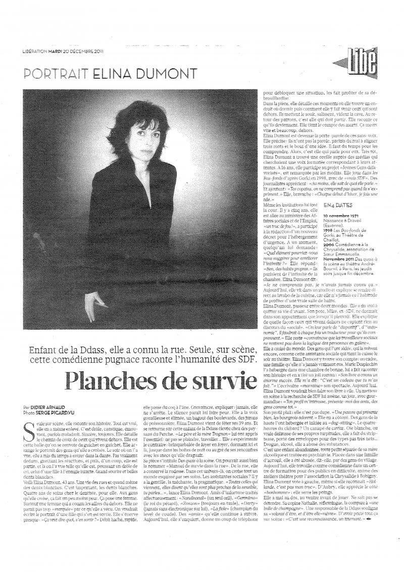 ELINA DUMONT - Libération