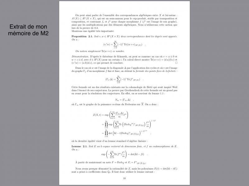 Thomas MORDANT - Extrait de son mémoire de M2