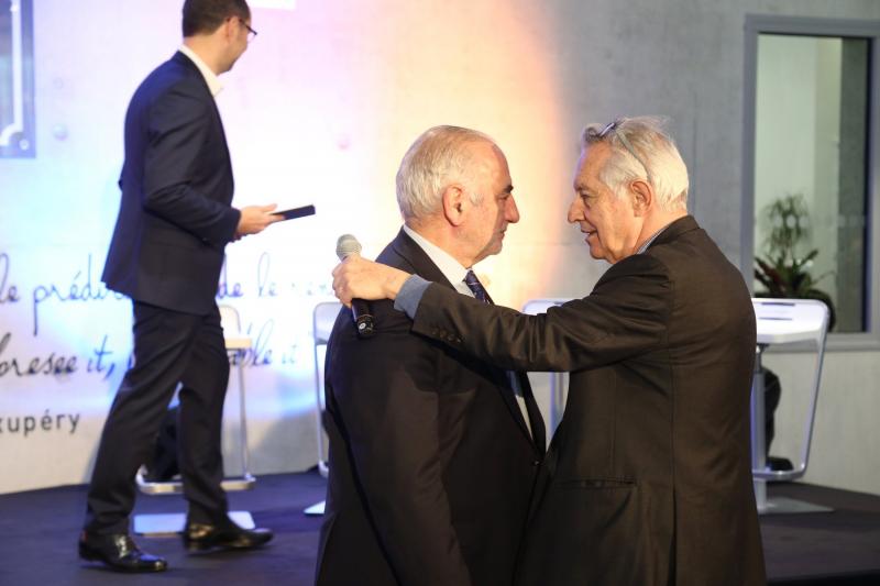 Georges Képénékian, Maire de Lyon et Roger Serre, Fondateur du Groupe IGS
