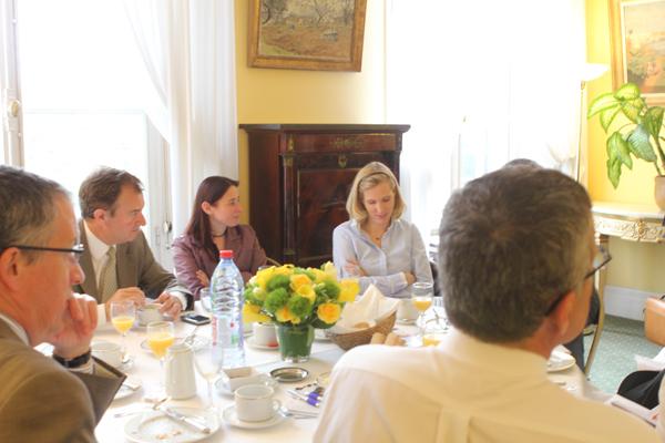 Petit déjeuner du Club de l'Audace avec Christophe Caupenne
