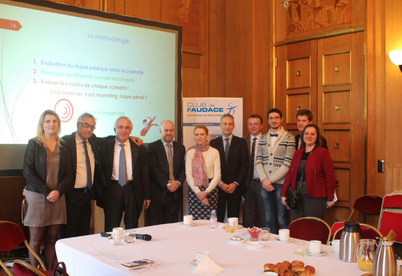 15 décembre 2015 : petit-déjeuner du Club de l'Audace avec Jean-Marc ALLOUËT, Associé  du cabinet d'expertise comptable BDO; Isabelle RENARD, Avocat Associée au sein du cabinet IRenard AVOCATS et le hacker Super BENOIT