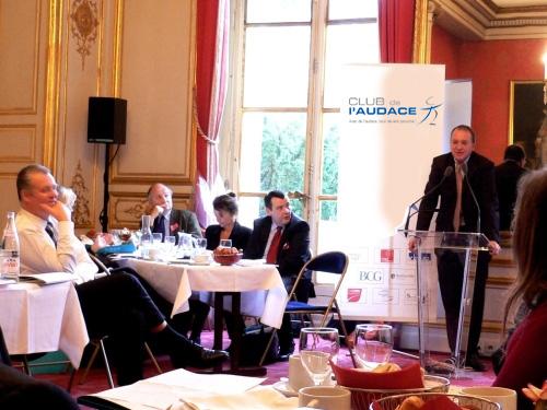 Petit déjeuner du Club de l'Audace avec Benoît Battistelli