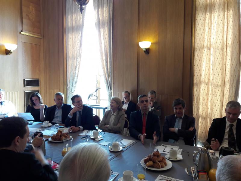 Petit-déjeuner du Club de l'Audace avec Franck RIESTER