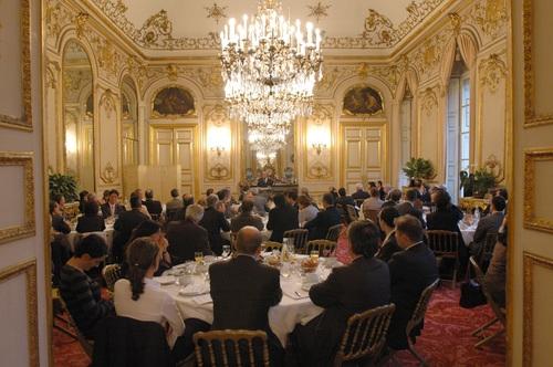 Petit déjeuner du Club de l'Audace avec Jean-Pierre Raffarin
