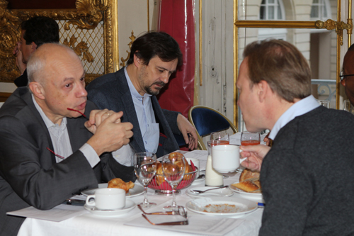 Petit déjeuner du Club de l'Audace avec Olivier Ferrand