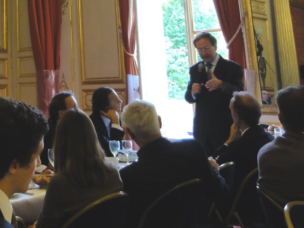 Petit déjeuner du Club de l'Audace avec Louis Petiet