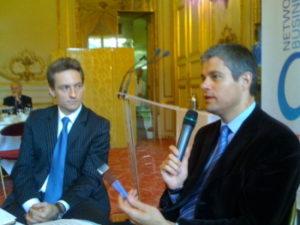 19 juin 2008 : petit-déjeuner du Club de l'Audace avec Laurent WAUQUIEZ, secrétaire d'Etat à l'Emploi
