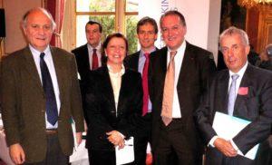 18 novembre 2008 : petit-déjeuner du Club de l'Audace au Sénat avec Benoît BATTISTELLI, directeur général de l'INPI