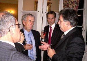 18 décembre 2008 : petit-déjeuner du Club de l'Audace au Sénat avec Richard MALLIE, premier questeur de l'Assemblée nationale et député des Bouches-du-Rhône