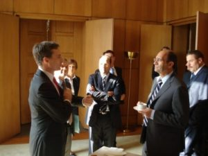 16 juin 2009 : petit-déjeuner du Club de l'Audace chez SwissLife avec Eric WOERTH, ministre du Budget, des comptes publics et de la fonction publique