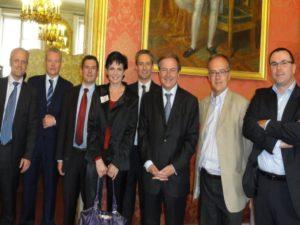 8 juin 2010 : petit-déjeuner du Club de l'Audace au Sénat avec Louis PETIET, président du Groupe Krief