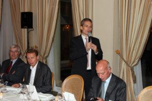 Dîner organisé dans le cadre du Club de l'Audace le mardi 5 octobre 2010 à l'hôtel Le Bristol