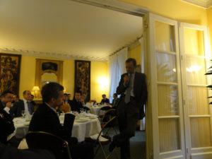 18 octobre 2010 : petit-déjeuner du Club de l'Audace à l'Assemblée Nationale avec Louis SCHWEITZER, président d'honneur de Renault