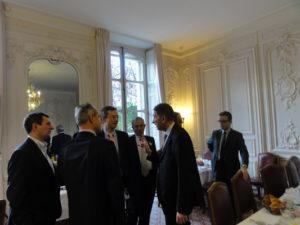 9 décembre 2010 : petit-déjeuner du Club de l'Audace à l'Assemblée nationale avec Nicolas de TAVERNOST, président du groupe M6