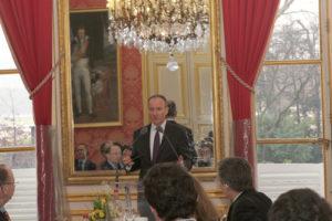 3 mars 2012 : petit-déjeuner du Club de l'Audace au Sénat avec Olivier BUQUEN, délégué interministériel à l'Intelligence Economique