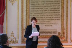 4 mai 2011 : petit-déjeuner du Club de l'Audace au Sénat avec Muriel MAYETTE, comédienne, metteur en scène, administrateur général de la Comédie-Française