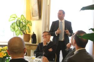 8 juin 2011 : petit-déjeuner du Club de l'Audace à l'Assemblée Nationale avec Christophe CAUPENNE, Chef du Groupe Gestion de crise et négociation du RAID