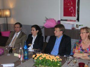Dîner organisé au restaurant Tante Marguerite, avec des Assistants Parlementaires