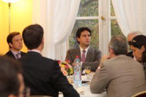 5 octobre 2011 : petit-déjeuner du Club de l'Audace à l'Assemblée nationale avec Axel DAUCHEZ, PDG de Deezer