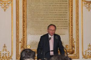 7 décembre 2011 : petit-déjeuner du Club de l'Audace au Sénat avec Christian de BAECQUE, président du Tribunal de Commerce de Paris