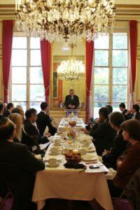 21 mai 2012 : petit-déjeuner du Club de l'Audace au Sénat avec Christian NOYER, Gouverneur de la Banque de France