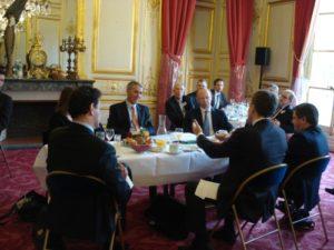 15 avril 2010 : petit-déjeuner du Club de l'Audace avec Jacques GAUTIER, Sénateur des Hauts-de-Seine, membre de la commission des affaires étrangères, de la défense et des forces armées