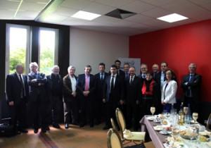 Déjeuner organisé au Centre Pénitentiaire de Fresnes, autour d'un certain nombre de personnalités qui sont intervenues dans le cadre du Club de l'Audace