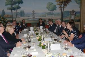 Dîner organisé à l'hôtel Le Bristol à l'initiative de Christiane COMPANY, Présidente de la FCGA