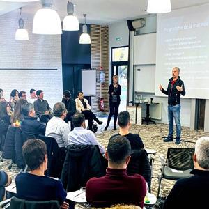 Conférence auprès des équipes Services Informatiques du Réseau Compétences et Développement et du Groupe IGS chez Châteauform le 30 novembre 2019